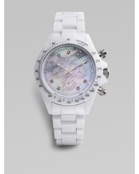 Toy Watch | White Plasteramic Chronograph Watch | Lyst