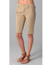 Vince | Natural Side Buckle Bermuda Shorts | Lyst