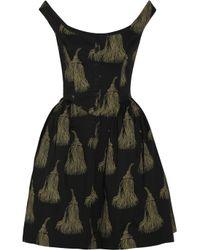 Vivienne Westwood Anglomania | Black Pannier Printed Cotton Dress | Lyst