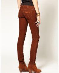 Wrangler | Brown Molly Skinny Cords | Lyst