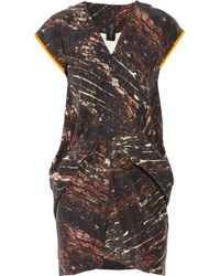Zero + Maria Cornejo | Brown Toia Mini Dress | Lyst