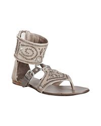 Ash - Natural Clay Leather Mumbai Woven Detail Sandals - Lyst