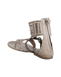 Ash | Natural Clay Leather Mumbai Woven Detail Sandals | Lyst