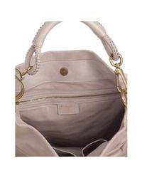 Dior | Brown Dawn Grey Lambskin Leather Libertine Pleated Hobo Bag | Lyst