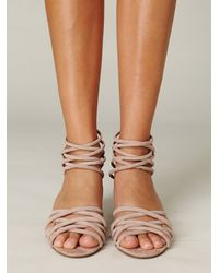 Free People | Natural Queen Wedge Sandal | Lyst