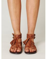Free People | Brown Volare Gladiator Sandal | Lyst