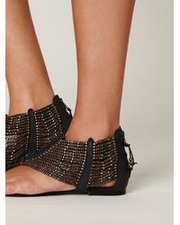 Free People | Brown Molly Beaded Sandal | Lyst