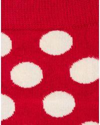 Happy Socks - Red Large Spot Socks for Men - Lyst