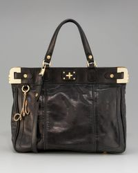 MILLY | Black Amelia Tote, Large | Lyst