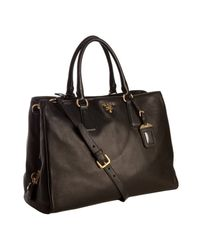 Prada - Black Deerskin Multi-pocket Tote - Lyst