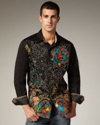 Robert Graham | Black Hewitt Sport Shirt for Men | Lyst