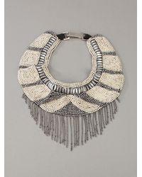 Fiona Paxton - Metallic Beaded Necklace - Lyst