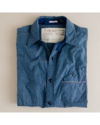 J.Crew | Blue Mister Freedom® Utility Chambray Workshirt for Men | Lyst
