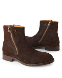 Oliver Sweeney - Brown Hatton Biker Boots for Men - Lyst