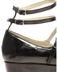 ASOS Collection | Black Asos Viola Ballet Style Flatform Shoes | Lyst