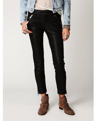 Free People | Black Rocker Vegan Leather Pant | Lyst