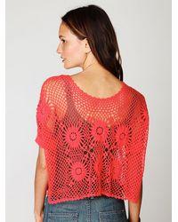 Free People | Pink Fp New Romantics Bloom Crochet Top | Lyst