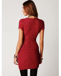 Free People | Pink Thira Cap Sleeve Dress | Lyst