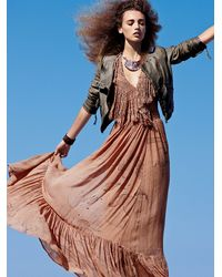 Free People | Brown Cosmos Maxi Dress | Lyst