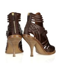 Givenchy - Brown Woven Leather Sandals - Lyst