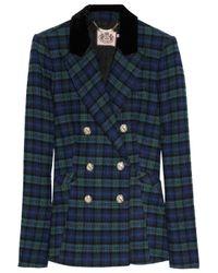 Juicy Couture | Blue Wool-blend Tartan Jacket | Lyst