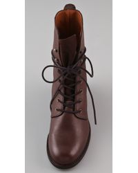 Madewell | Brown Lace Up Combat Boots | Lyst
