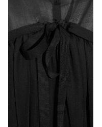 Marni | Black Embellished Mesh and Twill Dress | Lyst