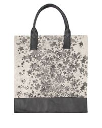 Simeon Farrar | Gray Star Cluster Canvas And Leather Tote Bag | Lyst