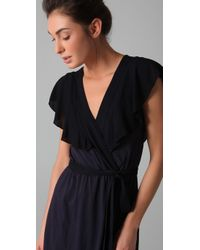Velvet By Graham & Spencer - Blue Shanley Wrap Dress - Lyst
