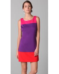 Alice + Olivia - Pink Haven Colorblock Shift Dress - Lyst