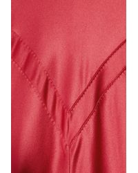 Amanda Wakeley - Red Paneled Silk-satin Gown - Lyst