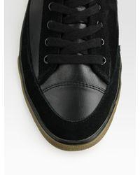 BOSS Orange - Black Lace-Up Hightop Sneaker for Men - Lyst
