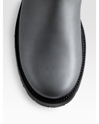 Dior Homme - Gray Leather Boots for Men - Lyst