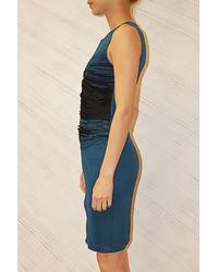Doo. Ri | Blue Sleeveless Dress W/ Bias Embroidered Bustier | Lyst