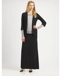 Eileen Fisher - Black Stretch Maxi Skirt - Lyst