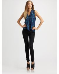 Elizabeth and James | Blue Jamie Tie Blouse | Lyst