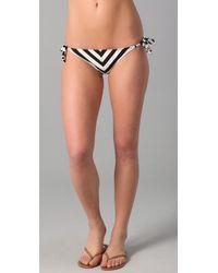 Ella Moss - Black Calypso Stripe Side Tie Bottom - Lyst