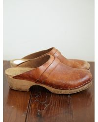Free People | Brown Vintage Clogs | Lyst