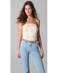 Free People - White Music City Rough Cut Corset Top - Lyst