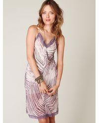 Free People | Purple Tiger Printed Chiffon Slip | Lyst