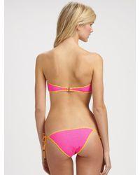 Marc By Marc Jacobs - Multicolor Marc by Marc Jacobs Bandeau Bikini bottom - Lyst