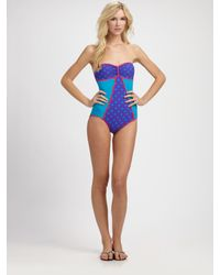 Marc By Marc Jacobs | Purple Marc by Marc Jacobs One-Piece Bandeau Swimsuit | Lyst