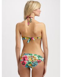 Marc By Marc Jacobs - Green Havana Floral Bikini Top - Lyst
