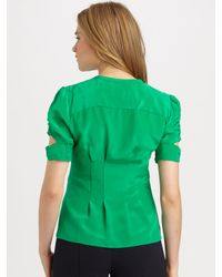 Nanette Lepore - Green Strutting Button-Up Blouse - Lyst
