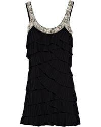 Rachel Gilbert   Black Keisha Embellished Crepe Dress   Lyst
