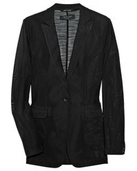 Rag & Bone | Black 42nd Street Silk and Stretch-mesh Blazer | Lyst