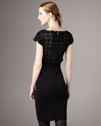 RED Valentino - Black Lace-top Dress - Lyst