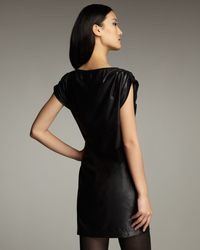 Royal Underground - Black Faux-leather Dress - Lyst