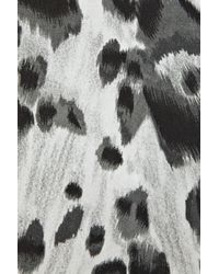 Stella McCartney - Black Cat Print Crepe Dress - Lyst