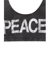 TOPSHOP - Black Peace Bra Top - Lyst